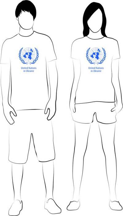 T-shirts, UN in Ukraine