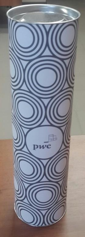 Тубус PwC для упаковки бутылок