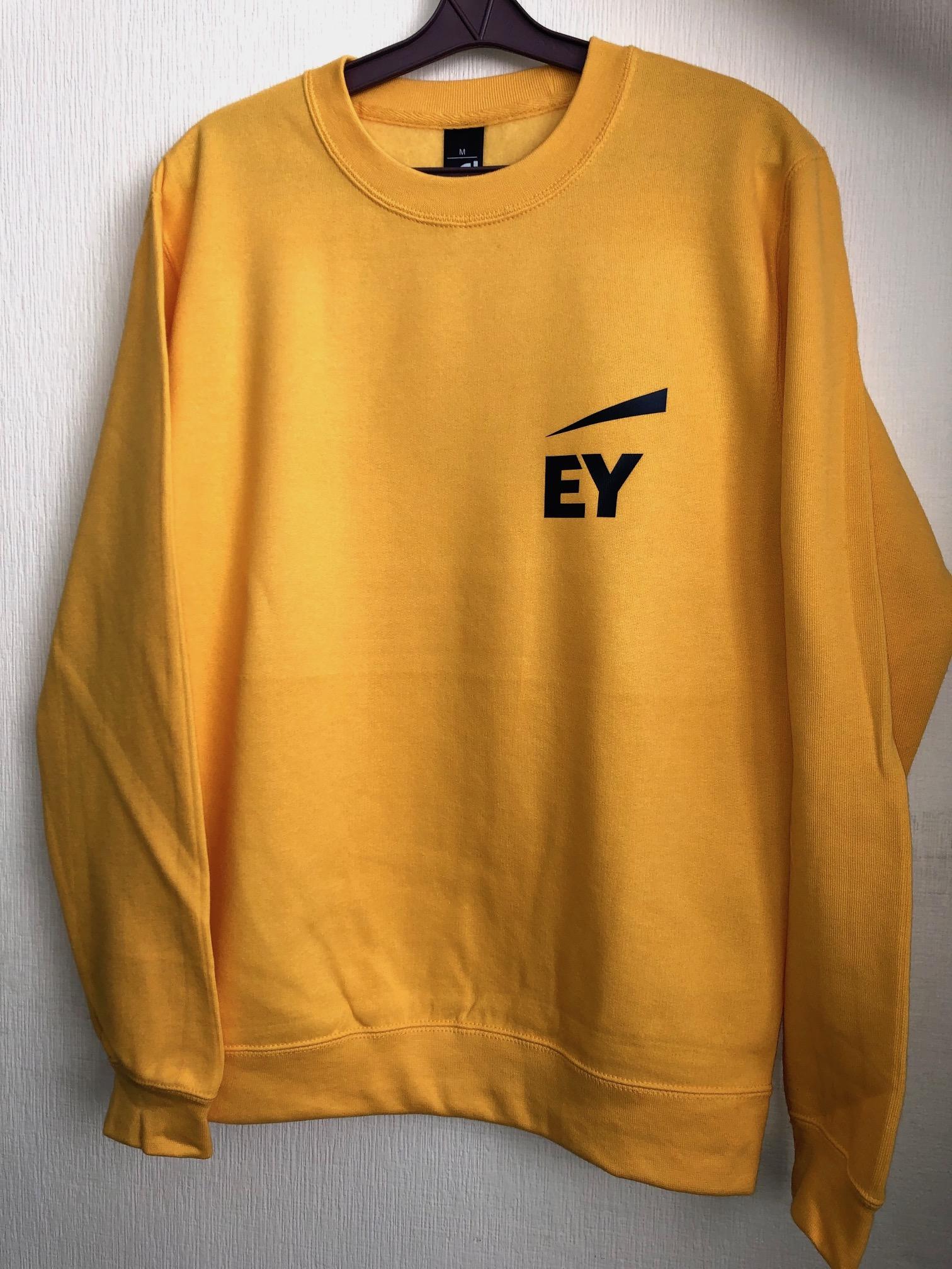 Sweatshirts with corporate logo