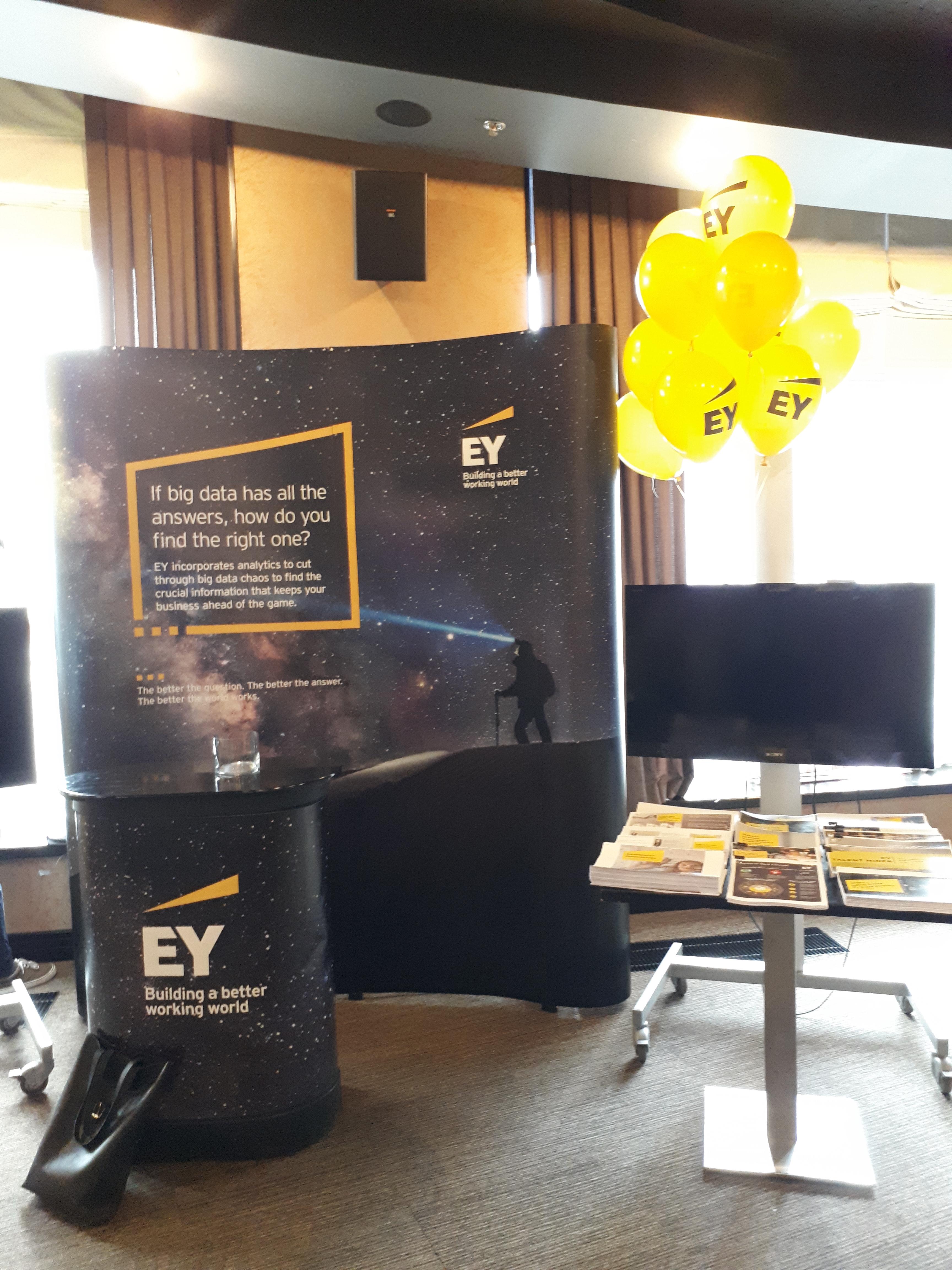 Промо материалы Ernst & Young для бизнес ивента