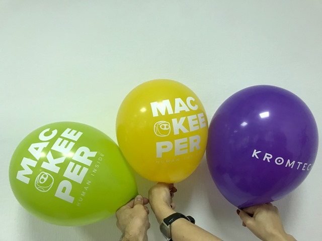 Воздушные шары с логотипом