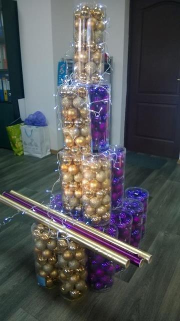 Наборы для новогоднего декорирования салонов