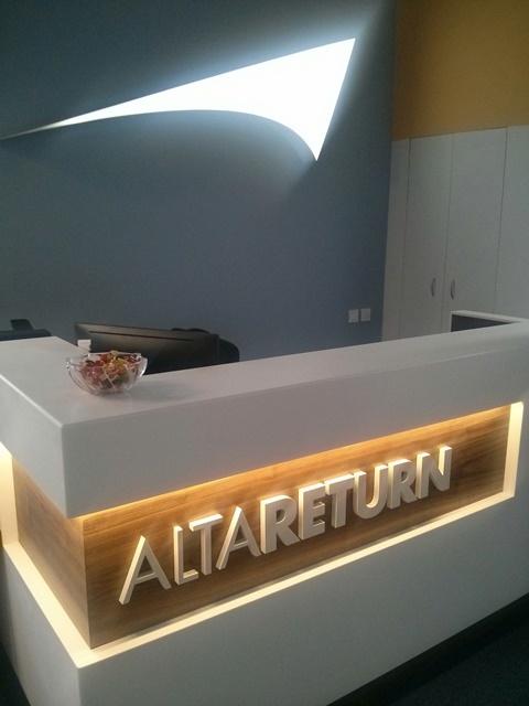Внутренние вывески, AltaReturn